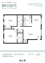 2 Bedroom - Garden Small